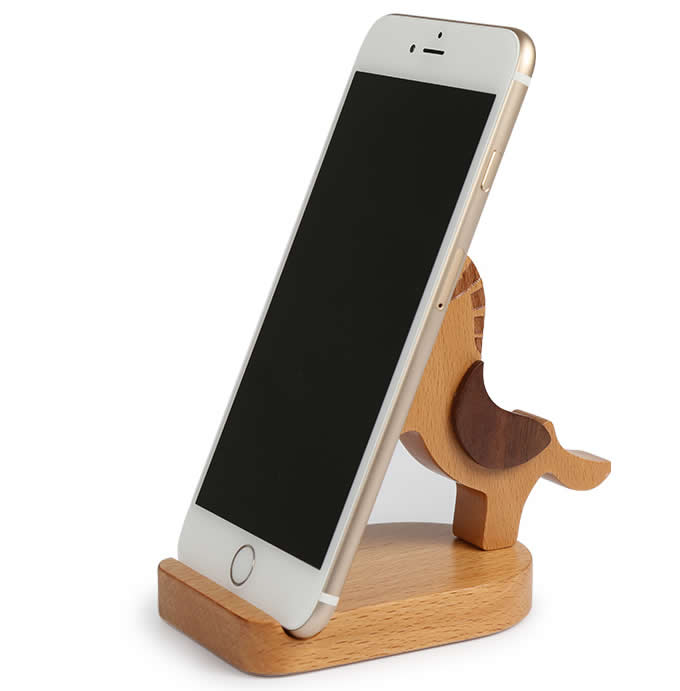 Wooden   Horse  Smart phone Stand Holder Stand with Coins slot
