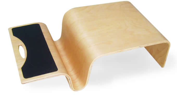 Wooden Laptop Desk Notebook Stand Table With Mouse Pad For