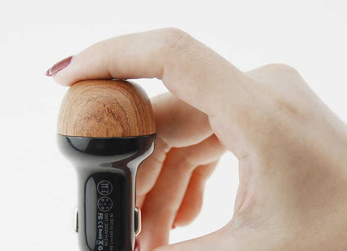 Wooden Mushroom 2.1A USB Car Charger