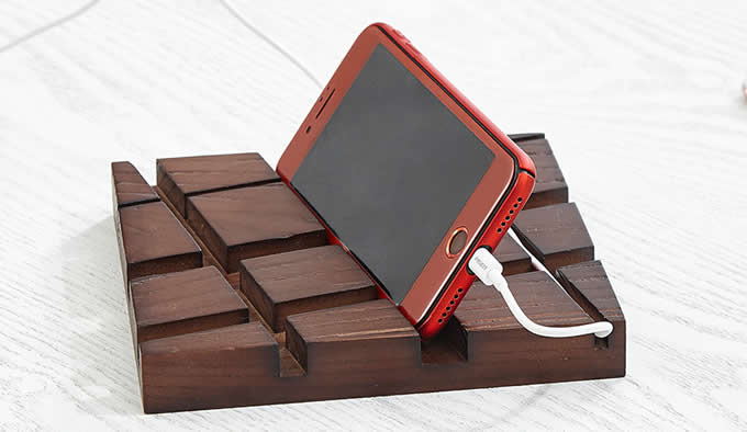 Wooden Leather Desk Stationery Organizer  Pen/Pencil,Cell phone, Business Name Cards Holder