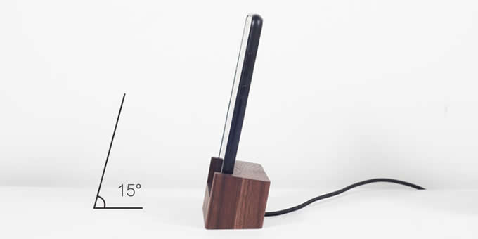 Wooden USB Type C Lightning Charging Dock Charger Station