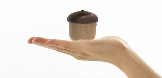 Acorn-Shaped Levitating Floating Maglev Bluetooth Speaker