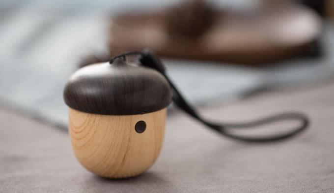 Acorn-Shaped Mini Nut Wooden Bluetooth Speaker