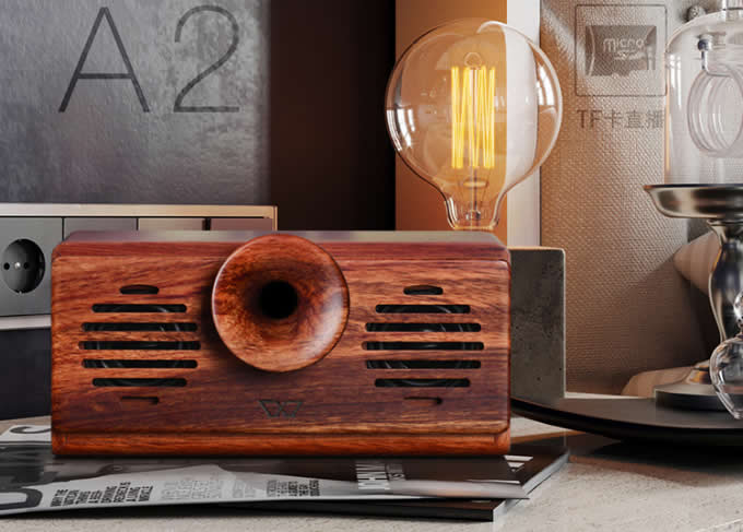 Eco friendly Hand made Portable Wood Bluetooth Speaker