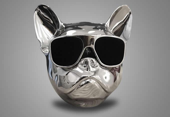 Portable Bulldog Head Dog Bluetooth Speaker