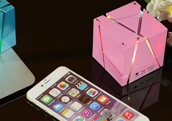 Portable Cube Bluetooth Speaker