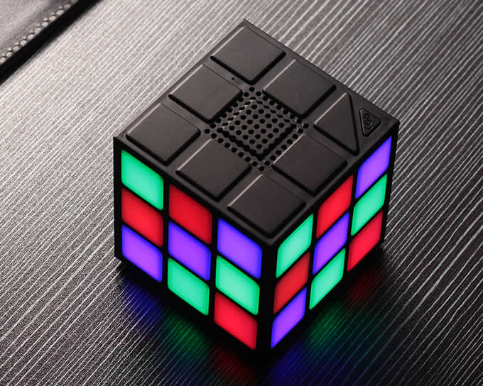 Portable Magic Cube Bluetooth Speakers Colorful LED Light
