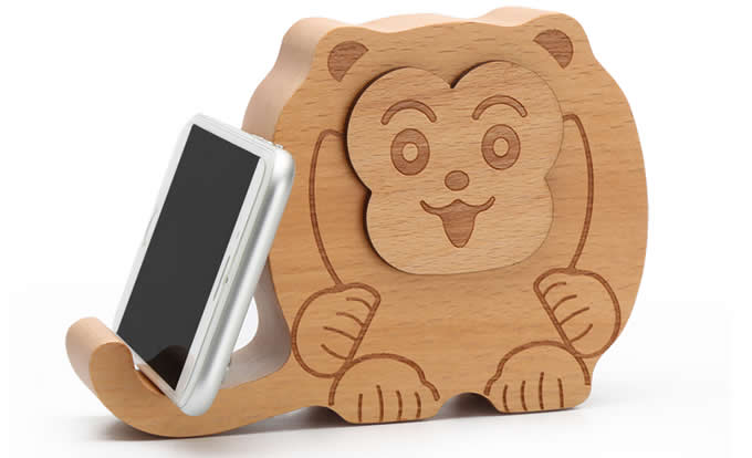 Wooden Animal Bluetooth Speaker Mobile Phone iPad Holder Stand