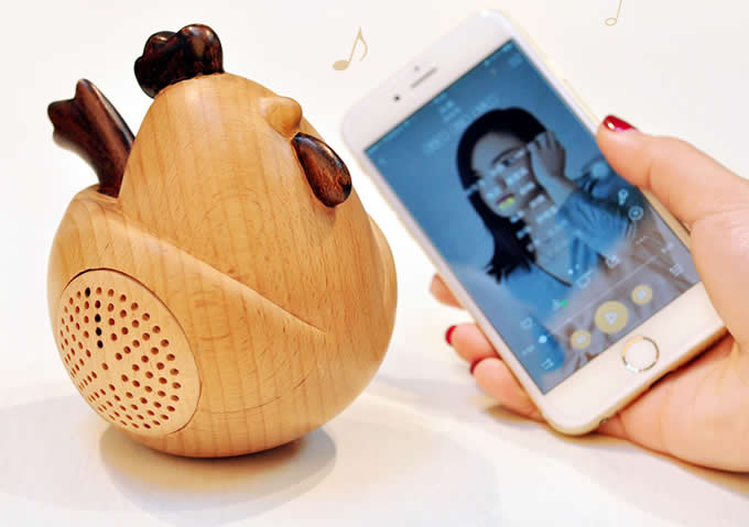 Wooden Rooster Bluetooth Speaker