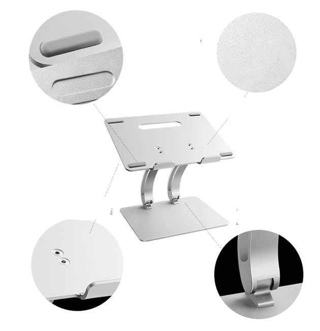 Classic Aluminum Laptop Heat Dissipation Lift Rotation Holder NoteBook Computer Macbook Stand