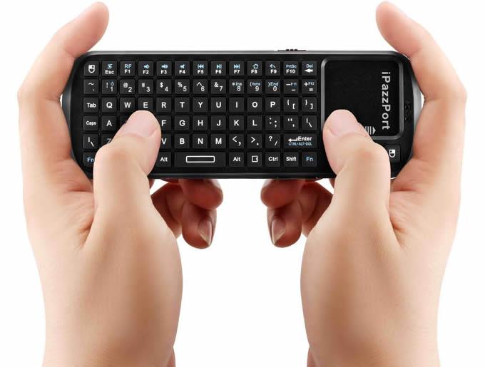Black Mini  2.4g Wireless Keyboard with Touchpad