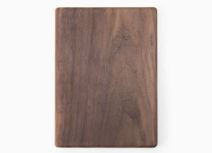 Natural Wood Mouse Pad with Cell Phone Stand