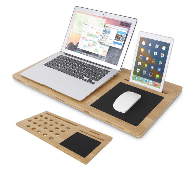 Bamboo Laptop Mobile Lap Desk Fits 15 Quot And Smaller Laptops