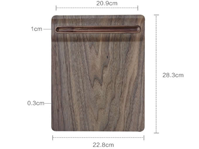 Wooden Mouse Pad With Single Pen holder