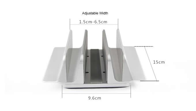 Adjustable Aluminum Desktop Vertical Laptop Stand Holder