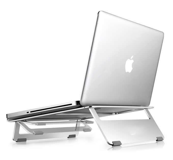 Aluminum Foldable Portable Stand for Apple MacBook PC Laptop