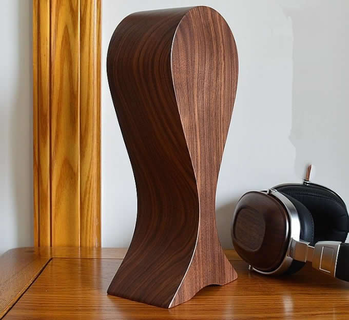 Black Walnut Solid Wooden Headphones Stand/Hanger/Holder