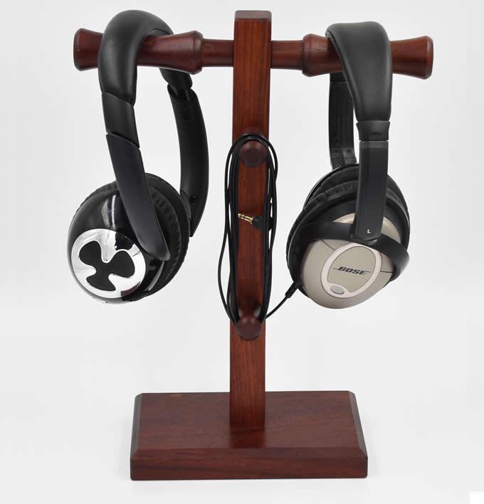 Solid Wooden Headphones Stand Hanger