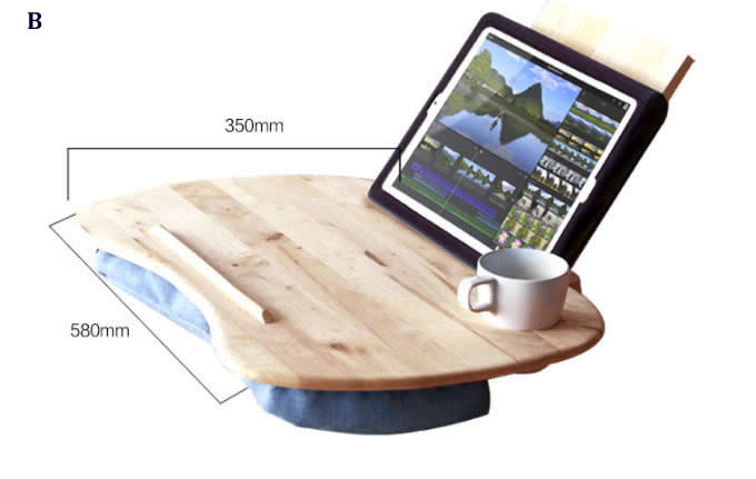 Portable Bamboo& Cushioned Macbook Mobile Lap Desk
