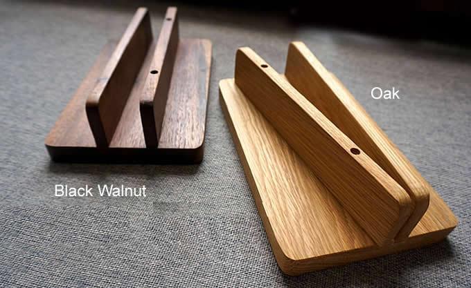Wooden Desktop Vertical Laptop Stand Holder For Macbook