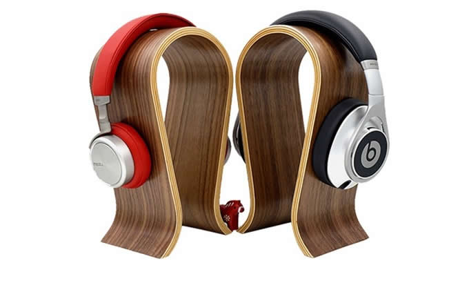 Wooden Headphones Stand Hanger Holder Christmas Gifts Cool Stuffs Feelgift on Stand Fan With Remote