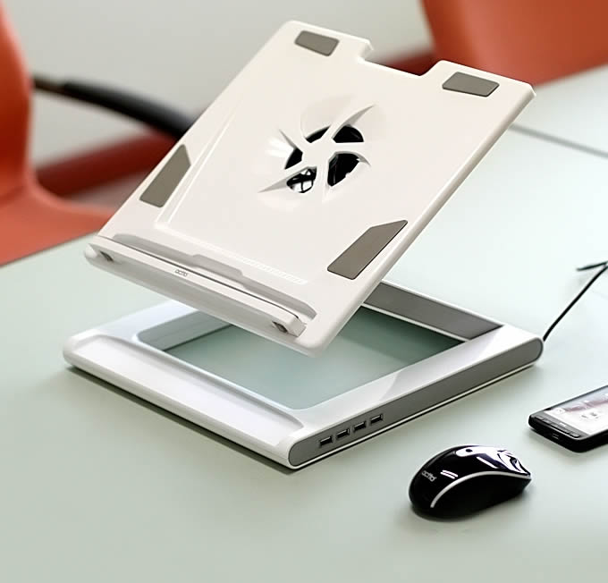 Actto Latop Cooling Stand Holder  & USB 4 Port Hub