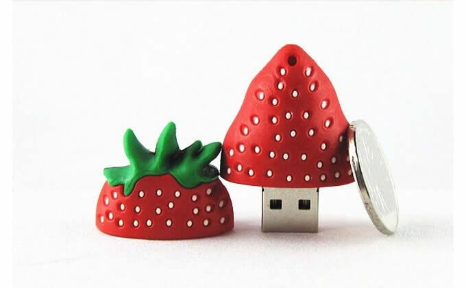 16G Strawberry Shaped USB Flash Drive