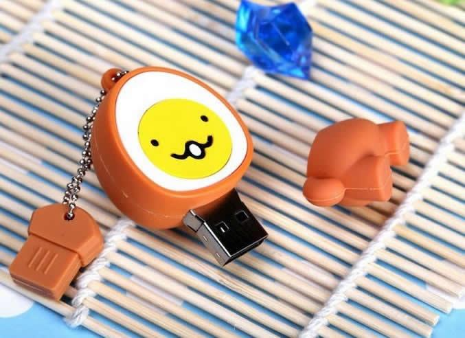 Egg Shaped Cartoon USB Flash Drive