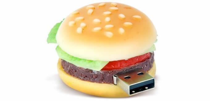 Hamburger Design USB Flash Drive