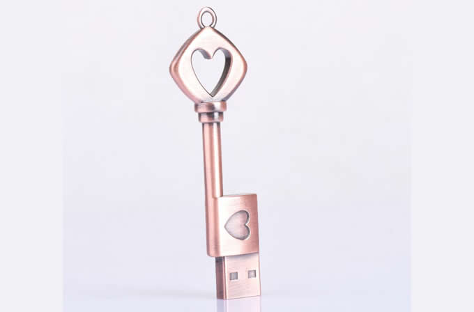Love Heart Key Shaped Usb Flash Drive