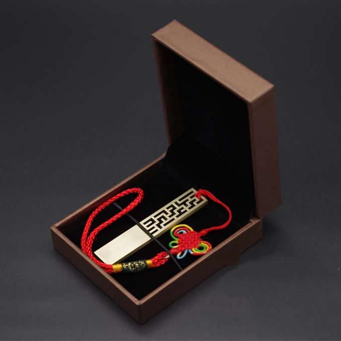 Customize Logo/Name Engrave Metallic Brass USB Flash Drive