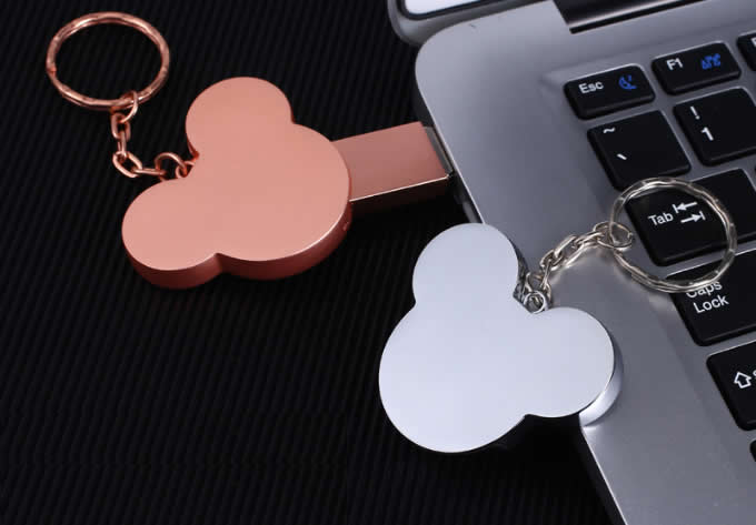 Customize Logo/Name Engrave Mickey Head Usb Flash Drive