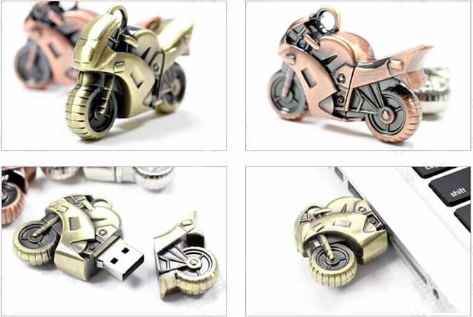 Retro Motorcycle Model Usb Flash Drive