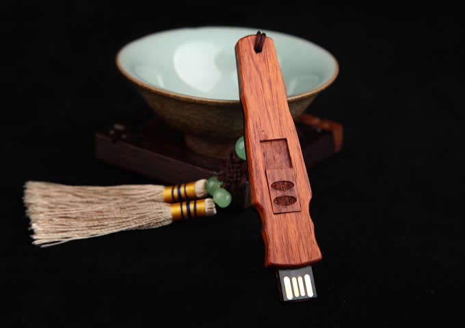 Wood Guqin 7-string Zither Shaped Usb Flash Drive