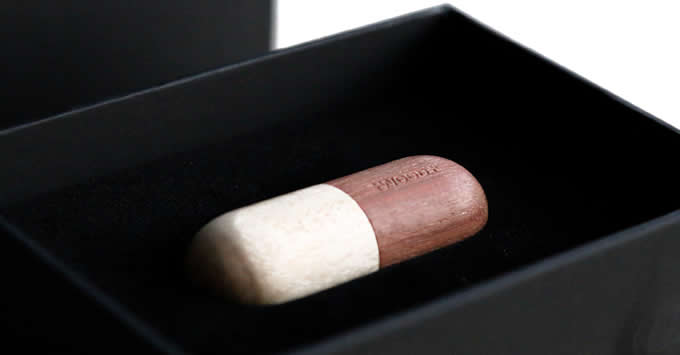 8G Handmade Wooden Capsule Shaped Usb Flash Drive