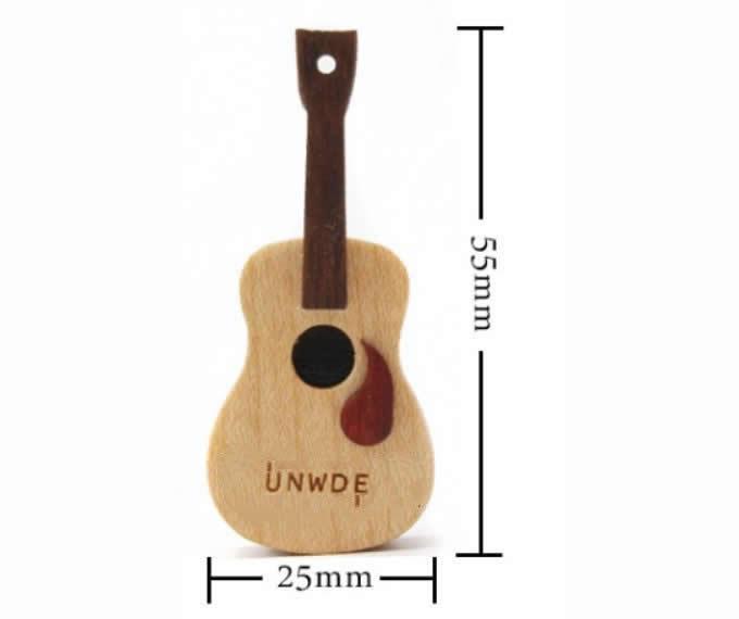 Mini Wooden Guitar USB Flash Drive