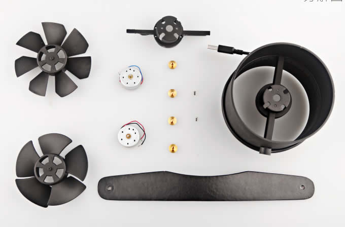 Double Blade Usb Powered Portable Cooling Fan Feelgift