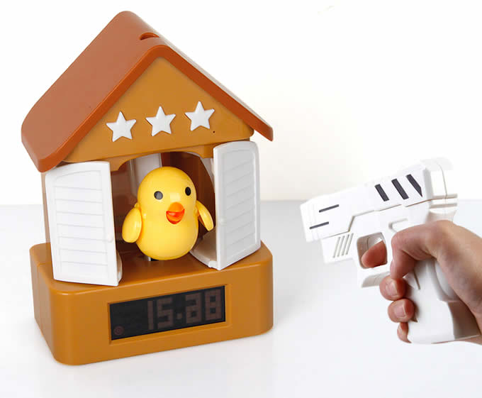 Bird Gun Shooting Alarm Clock