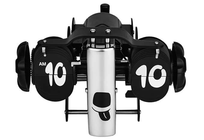 Black Dog Shaped Auto Flip Clock