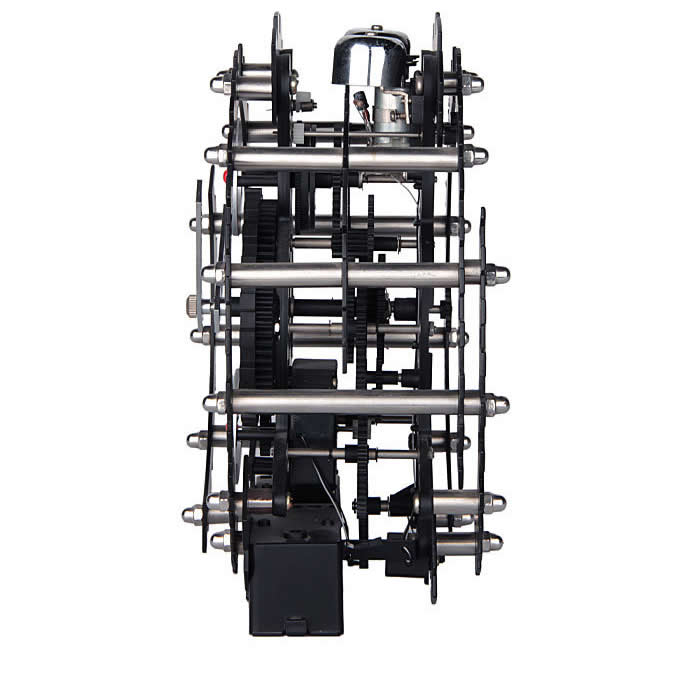 Black Maple's 10-Inch Moving Gear Desk Clock
