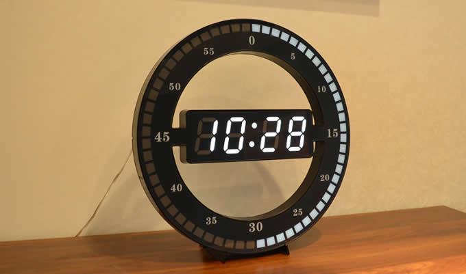 Circular Large LED Digital Wall Clock