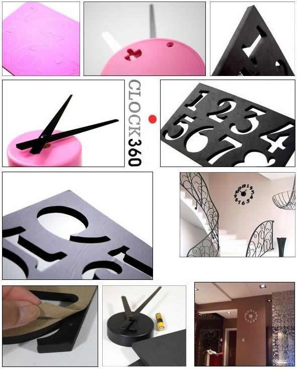 DIY Adhesive Modern Room Decoration Numbers Wall Clock