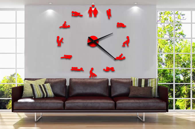 Diy Self Adhesive Sex Position Wall Clock Feelgift