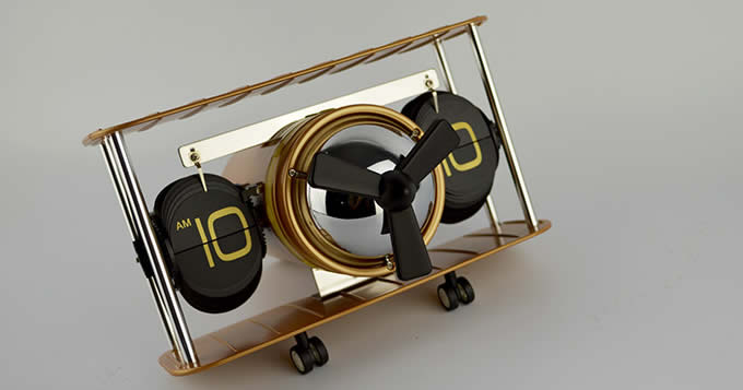 Fighter Tabletop Auto Flip Clock
