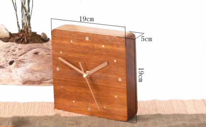 Handmade Modern Desk Clock Red Rosewood Feelgift