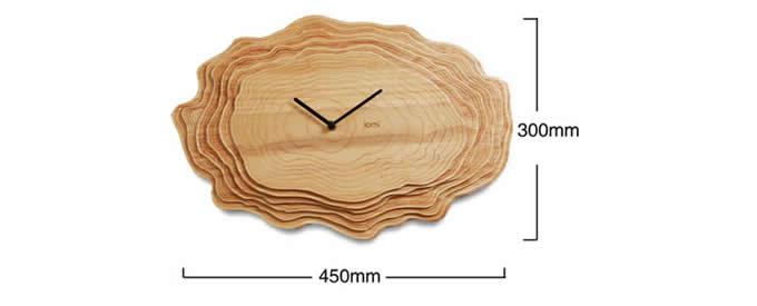 Handmade Modern  Wooden Wall Clock