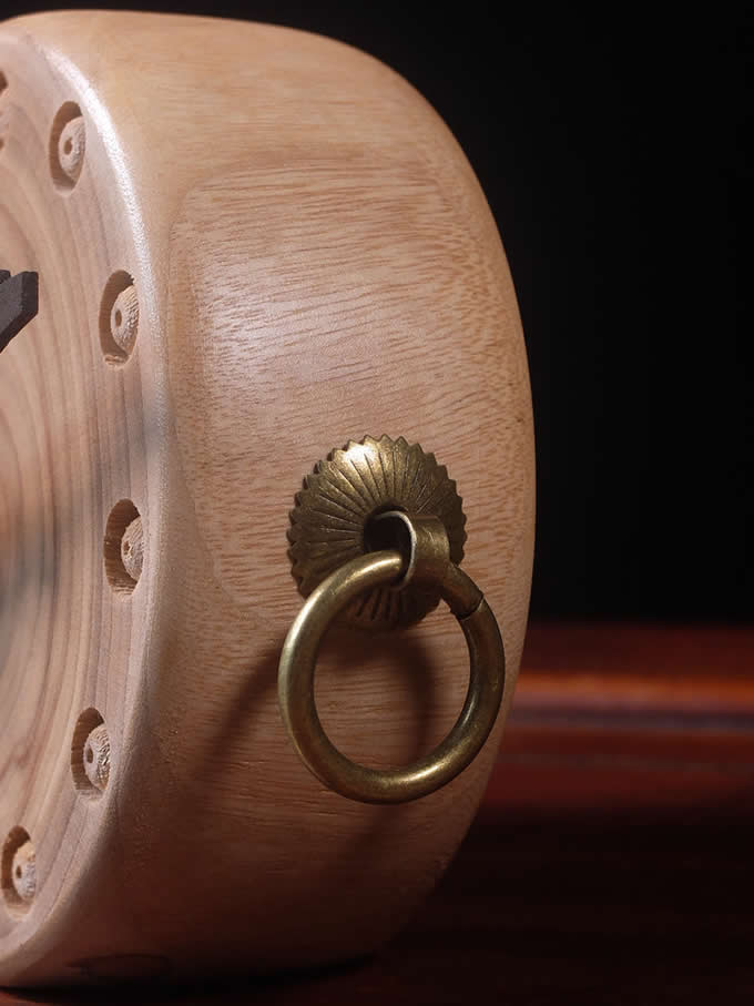 Handmade Wooden Art Desk Alarm Clock