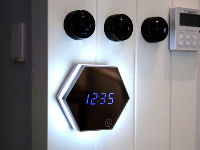 LED Night Light Digital Alarm Clock  with Mirror-Finished Display