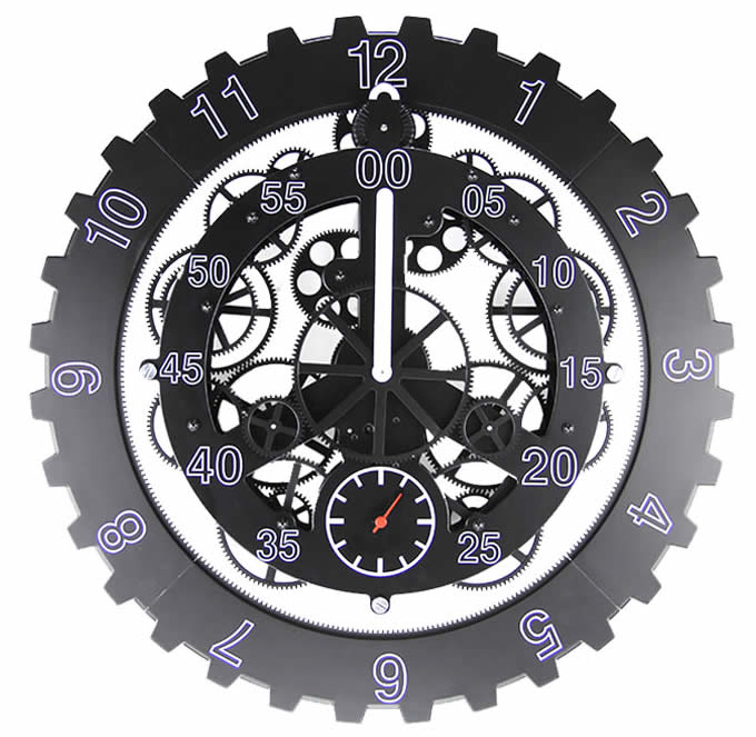 Maple S 18 Inch Moving Gear Clock Feelgift