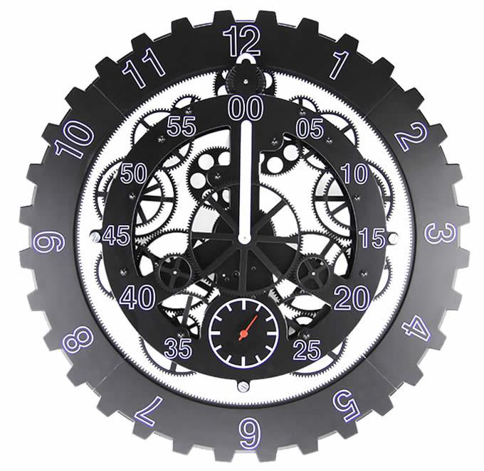 Superior Mapleu0027s 18 Inch Moving Gear Clock